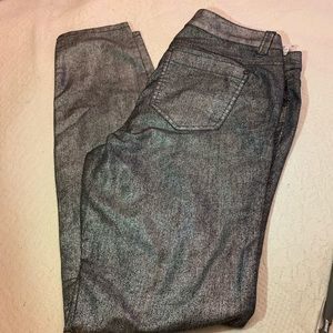 BLACK AND SILVER PANTS